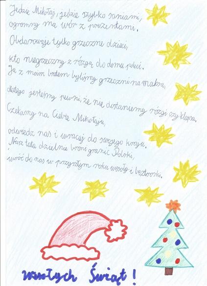 Rozstrzygnięcie Konkursu Wiersz Do świętego Mikołaja